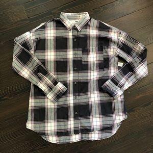 NWT Old Navy Plaid Flannel Boyfriend Tunic